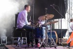 Jelle on drums